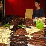 piles of chocolate