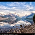 Lake McDonald Mountain Reflections