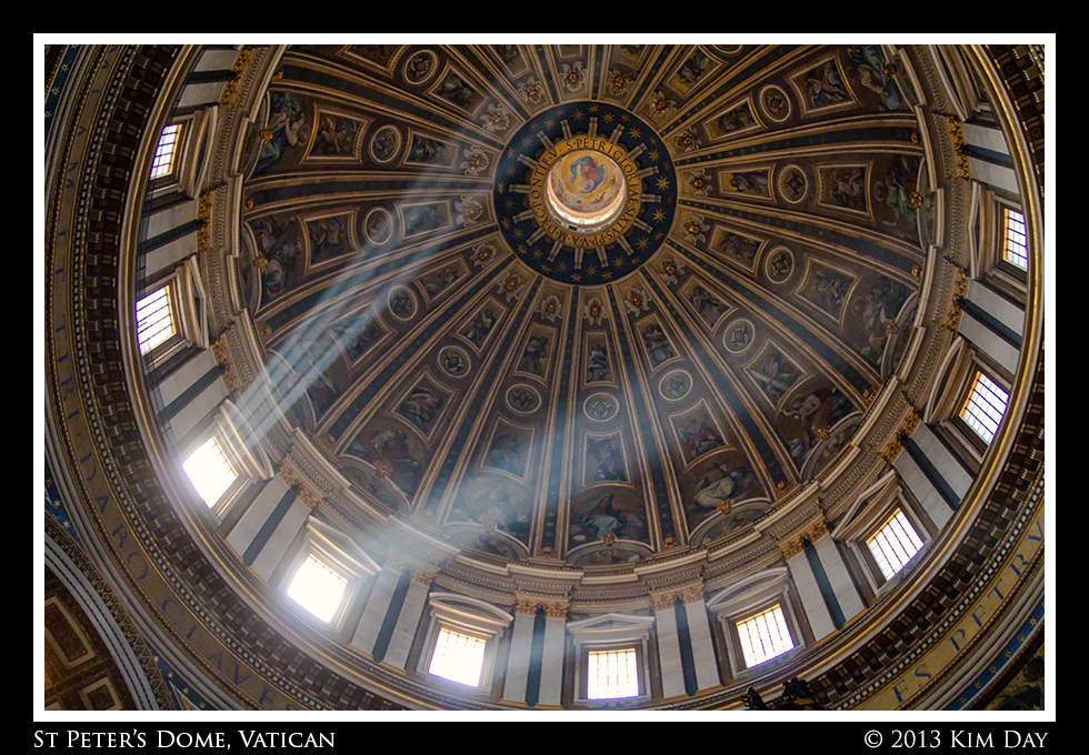 Sunbeams Across St. Peter's Dome