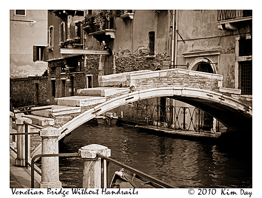 Unwalled Venetian Bridge